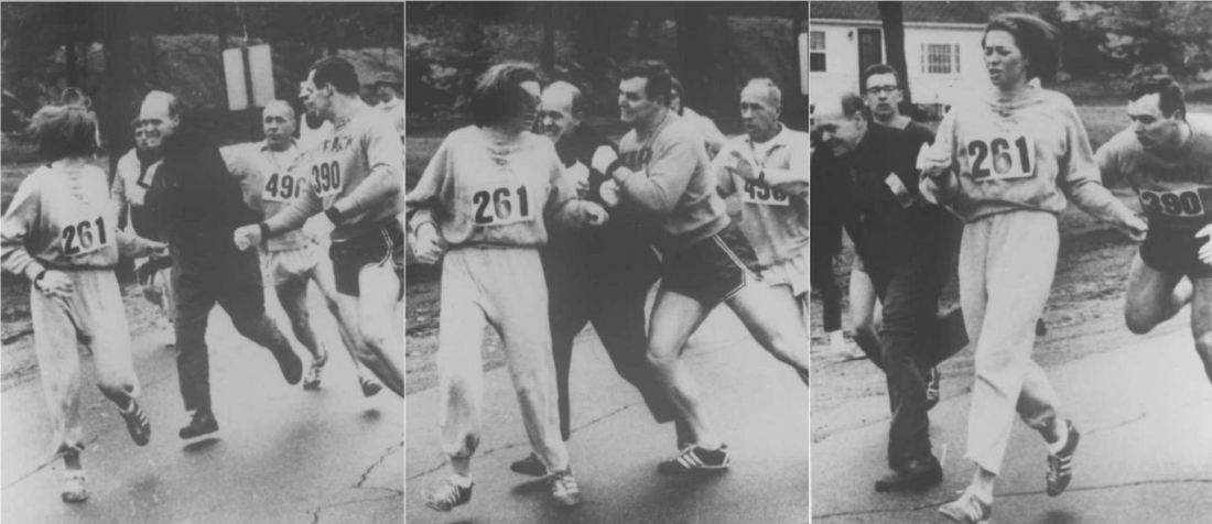 Katherine Spitzer first woman to run the Boston Marathon 1967